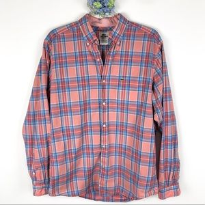Lacoste Plaid Button Down Shirt Size 40 / 8